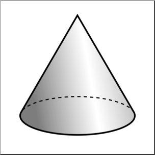 Cone clipart I Cone Grayscale Grayscale 3D