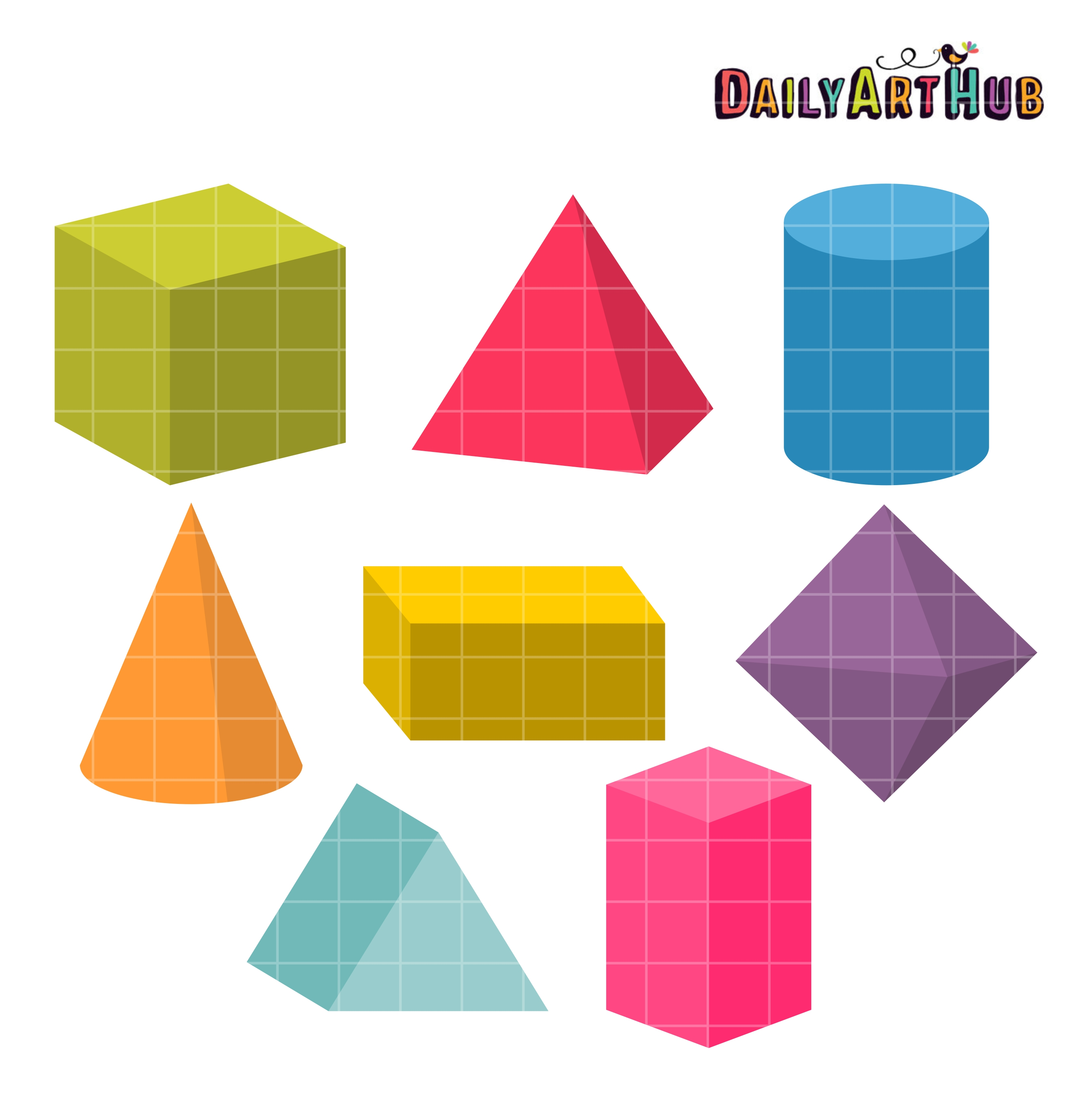 Other clipart 3d shapes Clip Daily 3D Clip Shapes