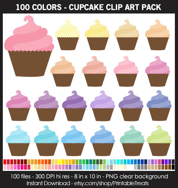 Cone clipart color pink 100 Commercial  Pack Pack