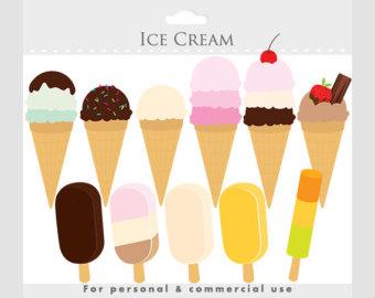 Cone clipart ice drop Digital Ice cream cream scrapbooking