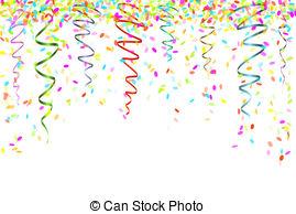 Confetti clipart  with confetti Confetti different