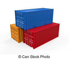 Container clipart Stock 3D on 020 Illustrations