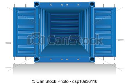 Container clipart On cargo Clip  container