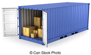 Container clipart Stock isolated carton 138 illustration