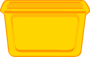 Container clipart Vector Clip Yellow  clip