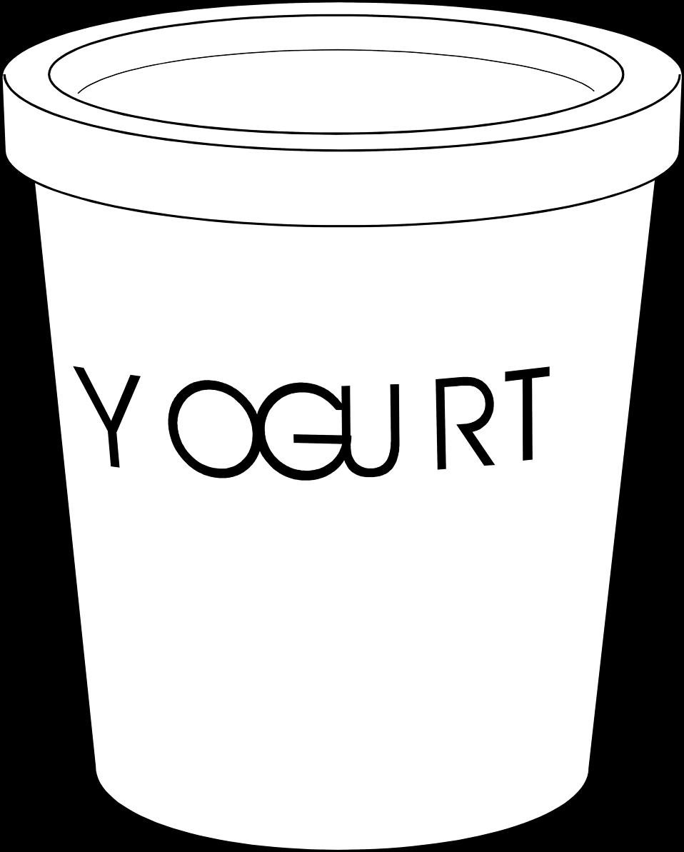Yogurt clipart black and white Clipart container #37033 photo yogurt