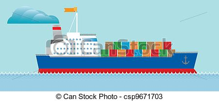 Cruise clipart cargo ship With containers cargo Tanker of