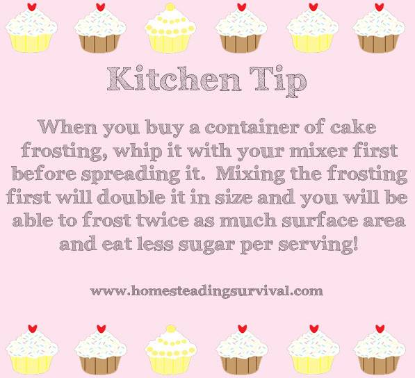Frosting clipart container To Kitchen  Tip Double