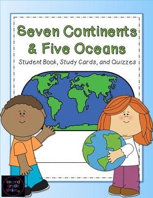 Continent clipart 5 ocean Oceans  Seven and Continents