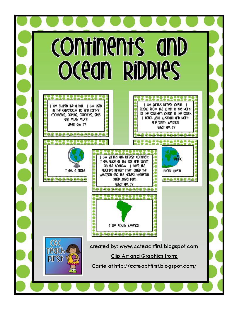 Continent clipart 5 ocean And Riddles  Homeschool Ocean