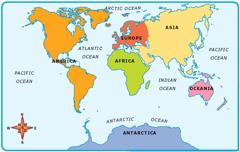 Continent clipart 5 ocean The and the World 5