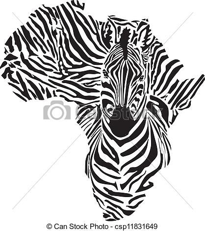 Continent clipart aftrica In zebra in Vector csp11831649