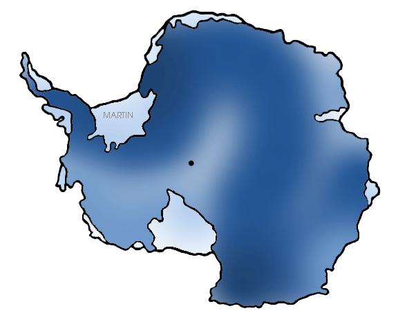 Continent clipart antarctica Antarctica Martin Clip Phillip Map