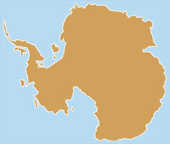 Antarctica clipart outline And tone Continents 2 Clipart