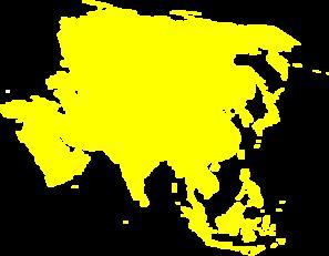 Continent clipart asia Continent Montessori  Asia Clker