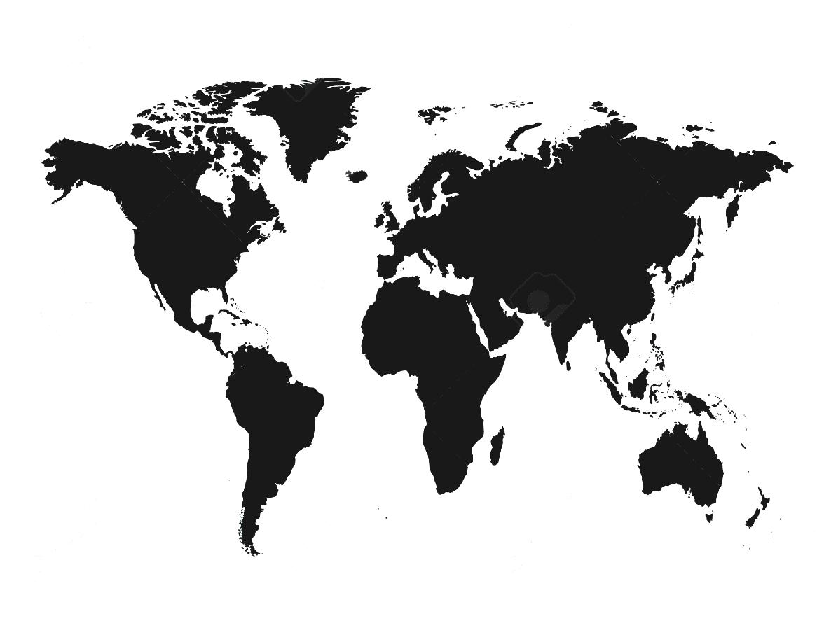 Continent clipart black and white World Represent Countries White Continents