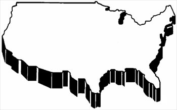 Continent clipart black and white Usa BW usa Images Clipart
