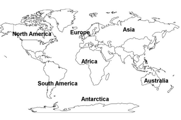 Continent clipart black and white Download Map World Images Picture