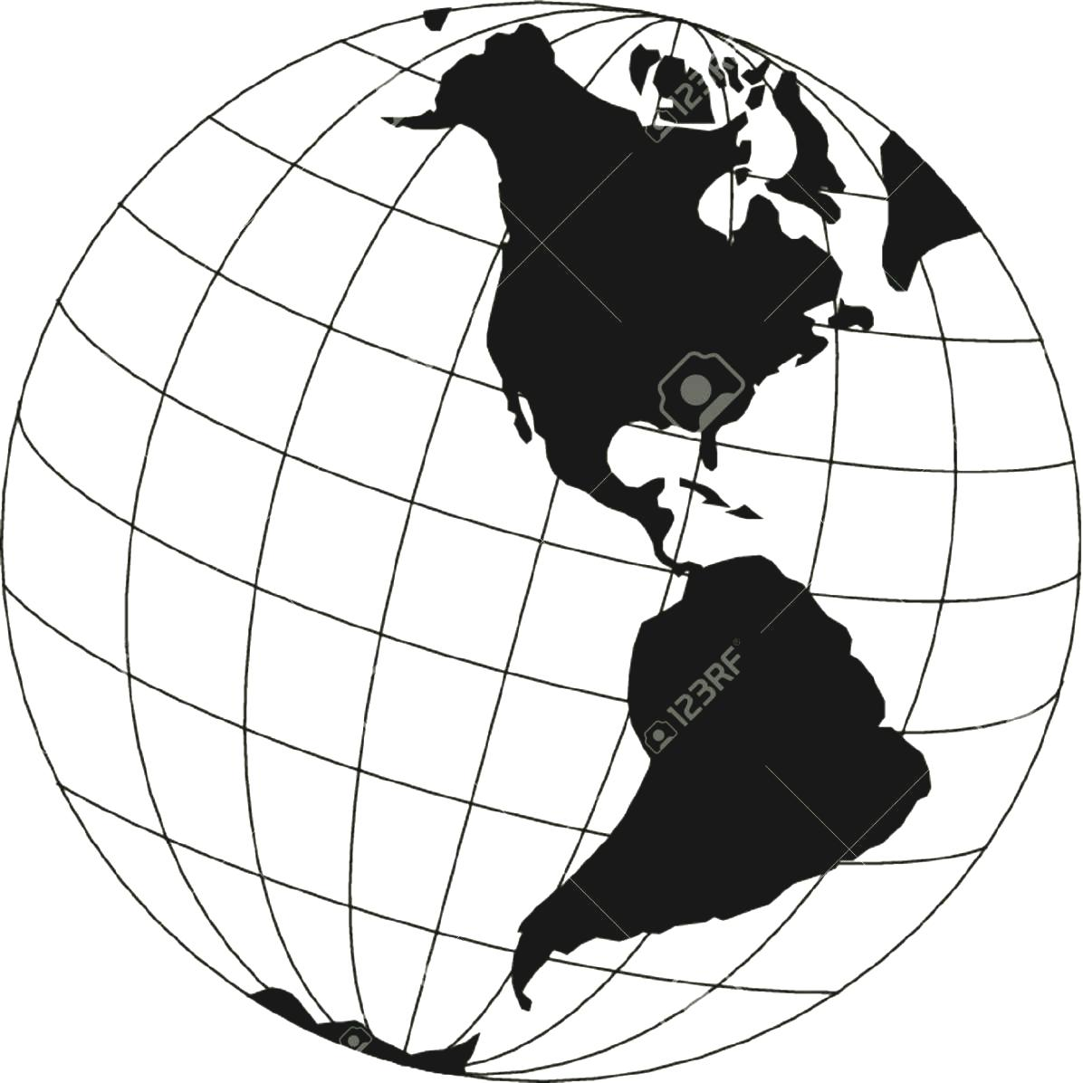 Continent clipart black and white World Continent And White White