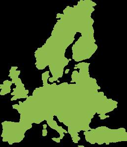 Continent clipart europe Green Art European Clker art