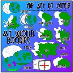 Continent clipart geography class To things labels Outlines for