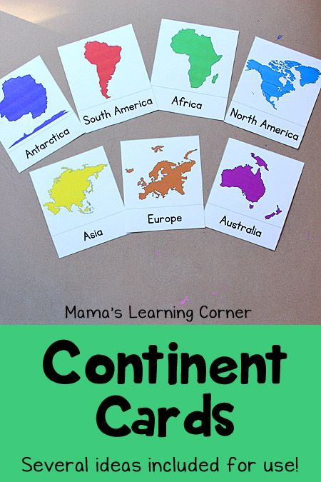 Continent clipart geography class 20+ activities FREE the Continents