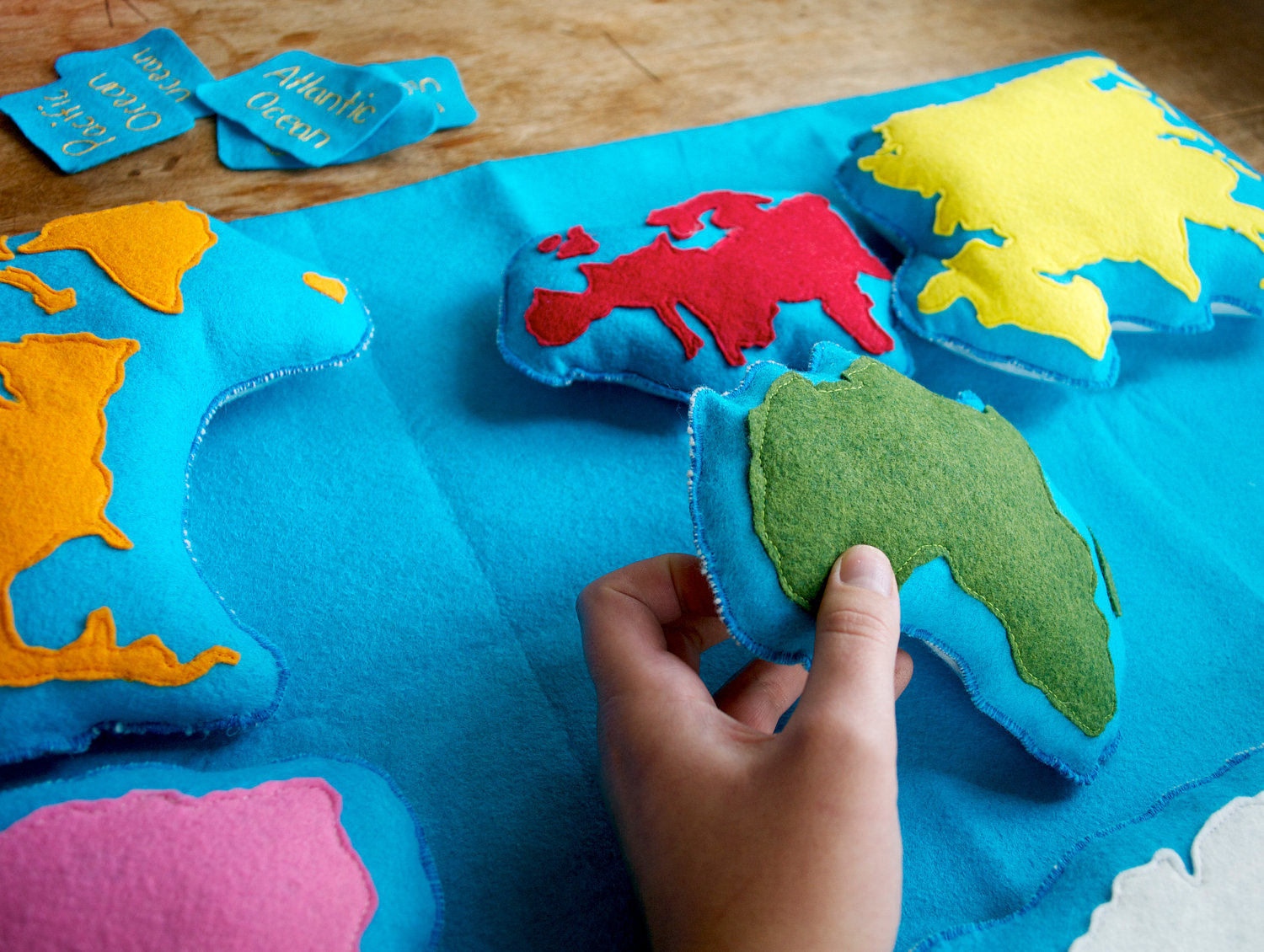 Geography clipart continent Work Felt Wool Geography