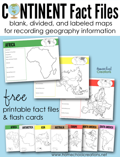 Continent clipart geography class Continents Files Printable Printables Fact