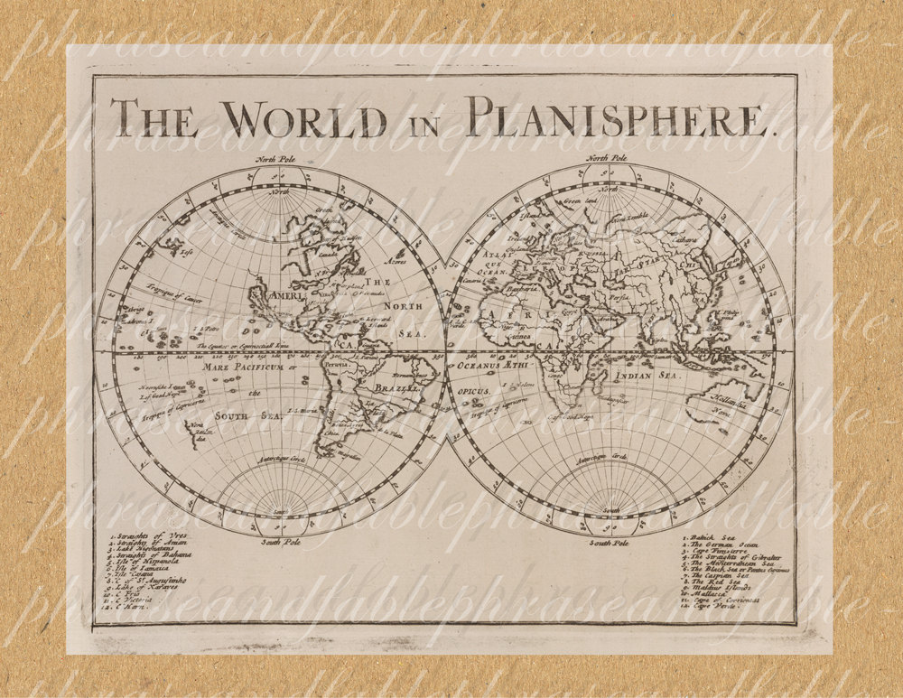 Continent clipart international Planisphere the From Clipart Earth