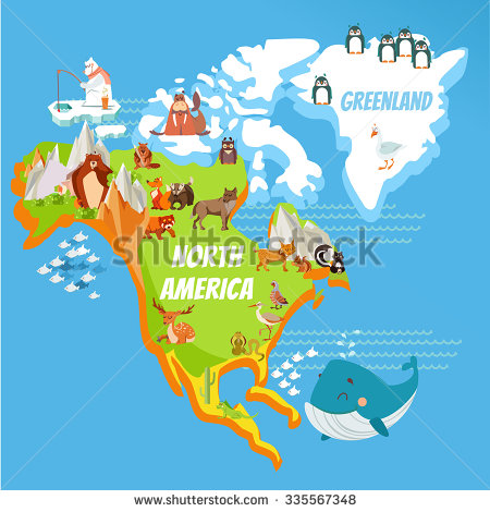 Continent clipart kid With continent mountains and design