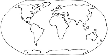 Continent clipart map reading Map map of world world