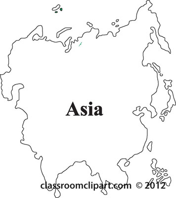 Continent clipart outline Asian cliparts Clipart Outlines Asia