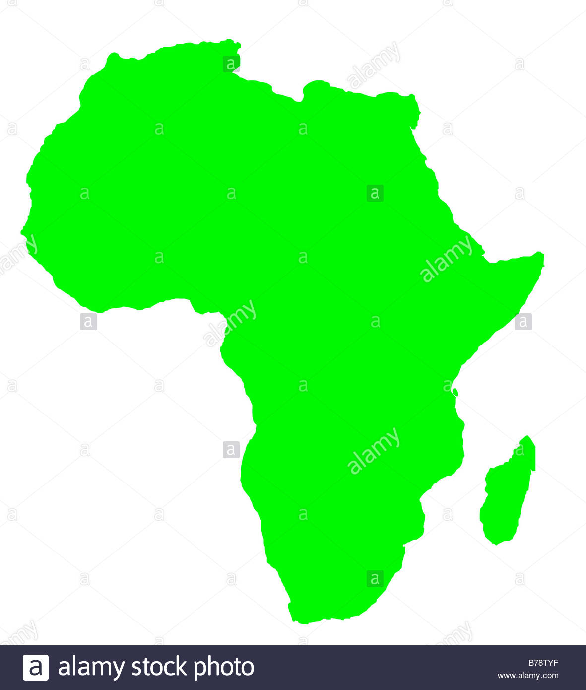 Continent clipart outline Clipart Africa  Outline In