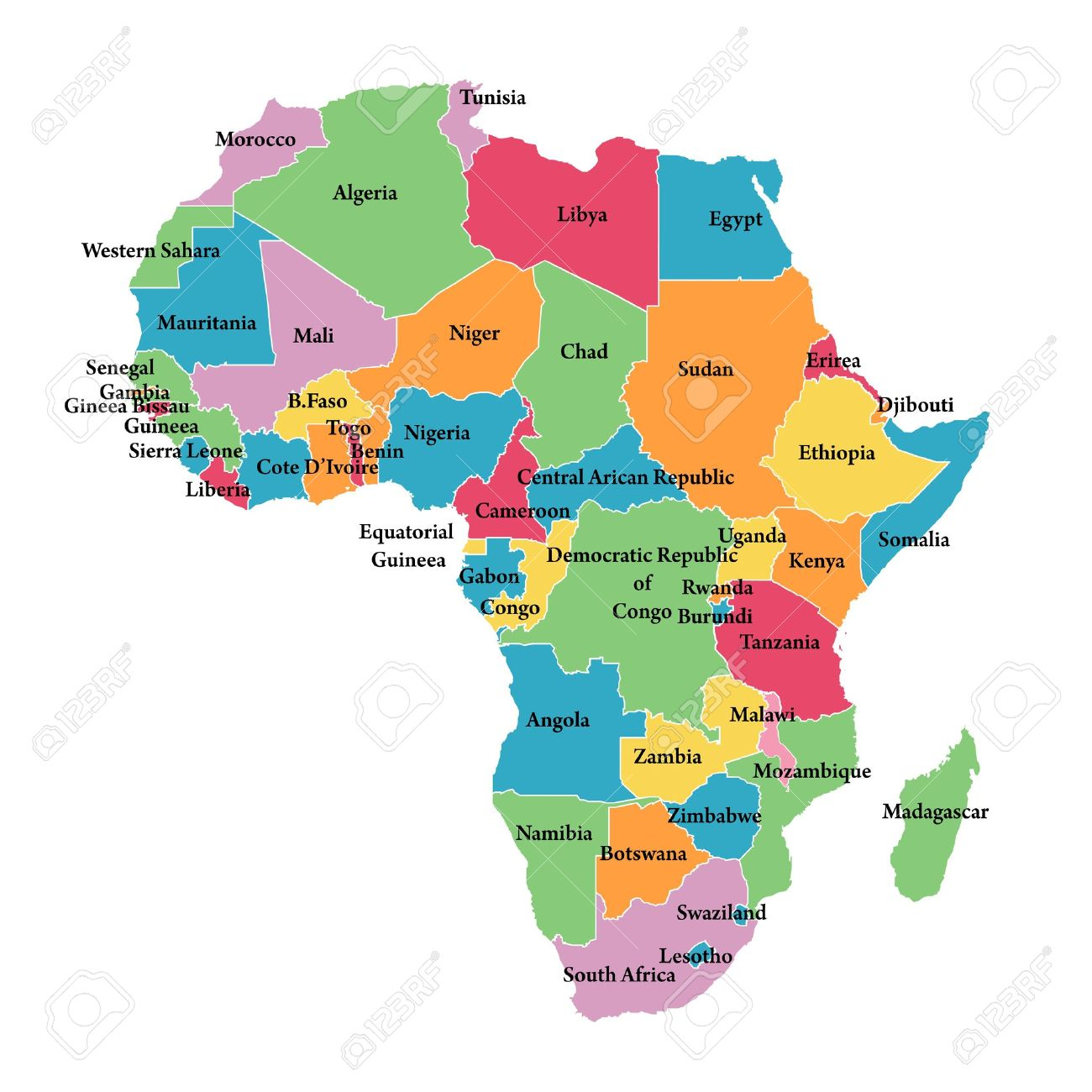 Continent clipart outline Clipart Africa  Outline Border