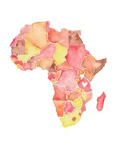 Continent clipart outline The with map with a