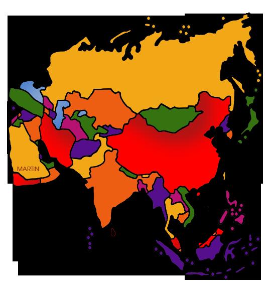 Continent clipart philip martin Asia Clip by Phillip Martin