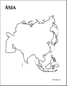 Continent clipart printable Teach Color the Worksheets Asia