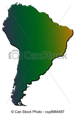 Continent clipart south america  Illustration Illustrations of south