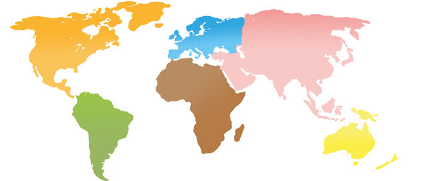 Continent clipart vector Map continents World Clipart Map