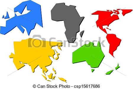 Continent clipart vector Flag  csp15617686 Vector Olympic