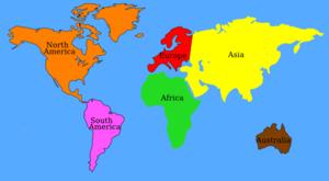 Continent clipart vector Clker vector Art  (color)