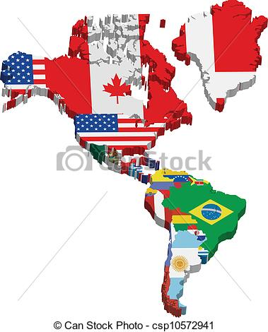 Continent clipart vector Flags csp10572941 and flags EPS