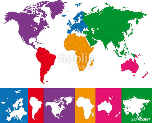 Continent clipart vector The with World Stock of