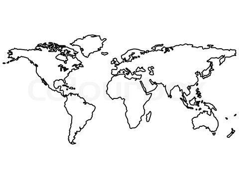 Continent clipart world atlas Vector outlines Best map World