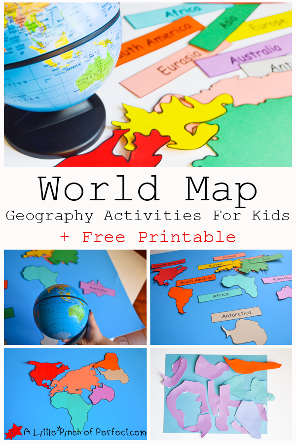 Geography clipart continent Coloring For Map and Activities