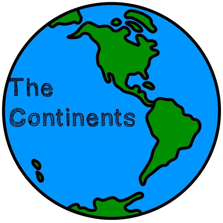 Continent clipart world history Continents Plan: World Continents Places