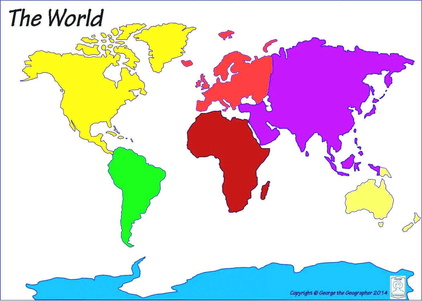 Continent clipart world map Fabulous Sheets Maps Free Welcome