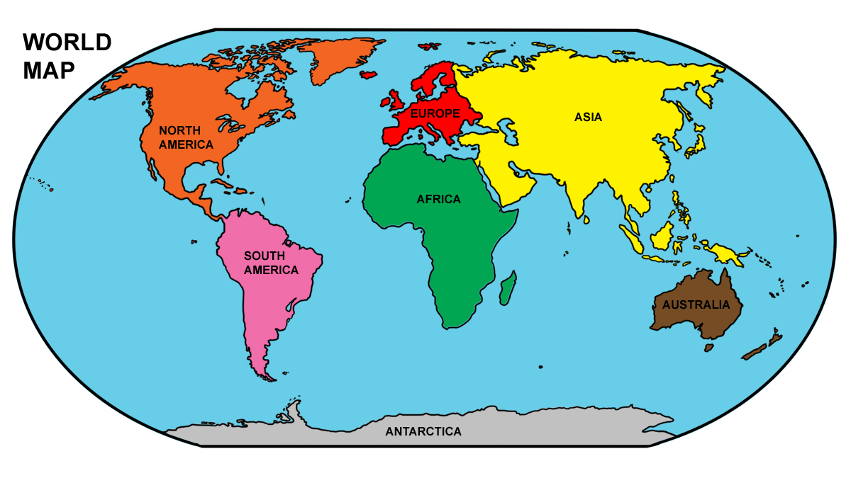 Continent clipart world map Abcteach Continents I Art: Clip