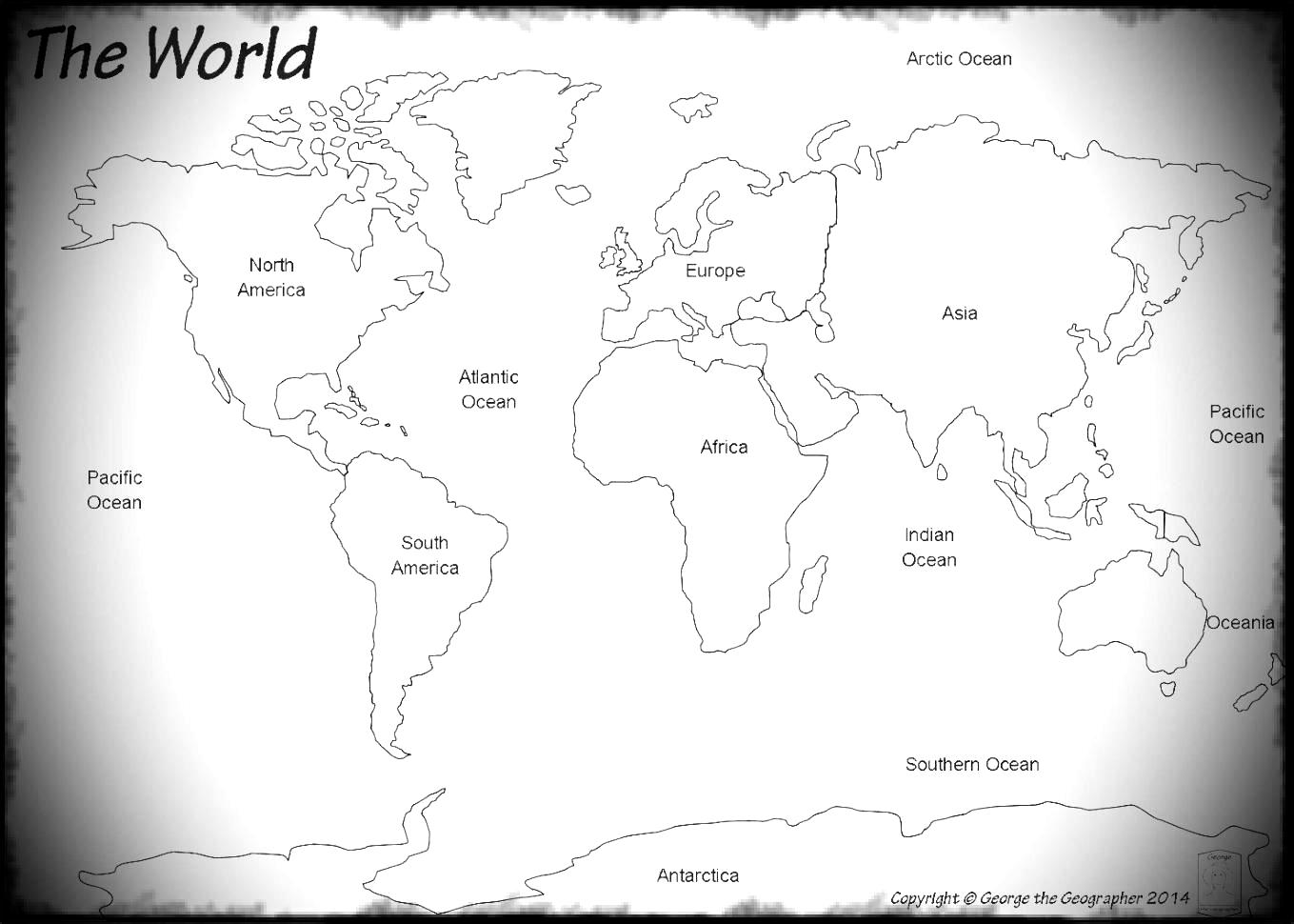 Continent clipart world political For World Kids For Maps