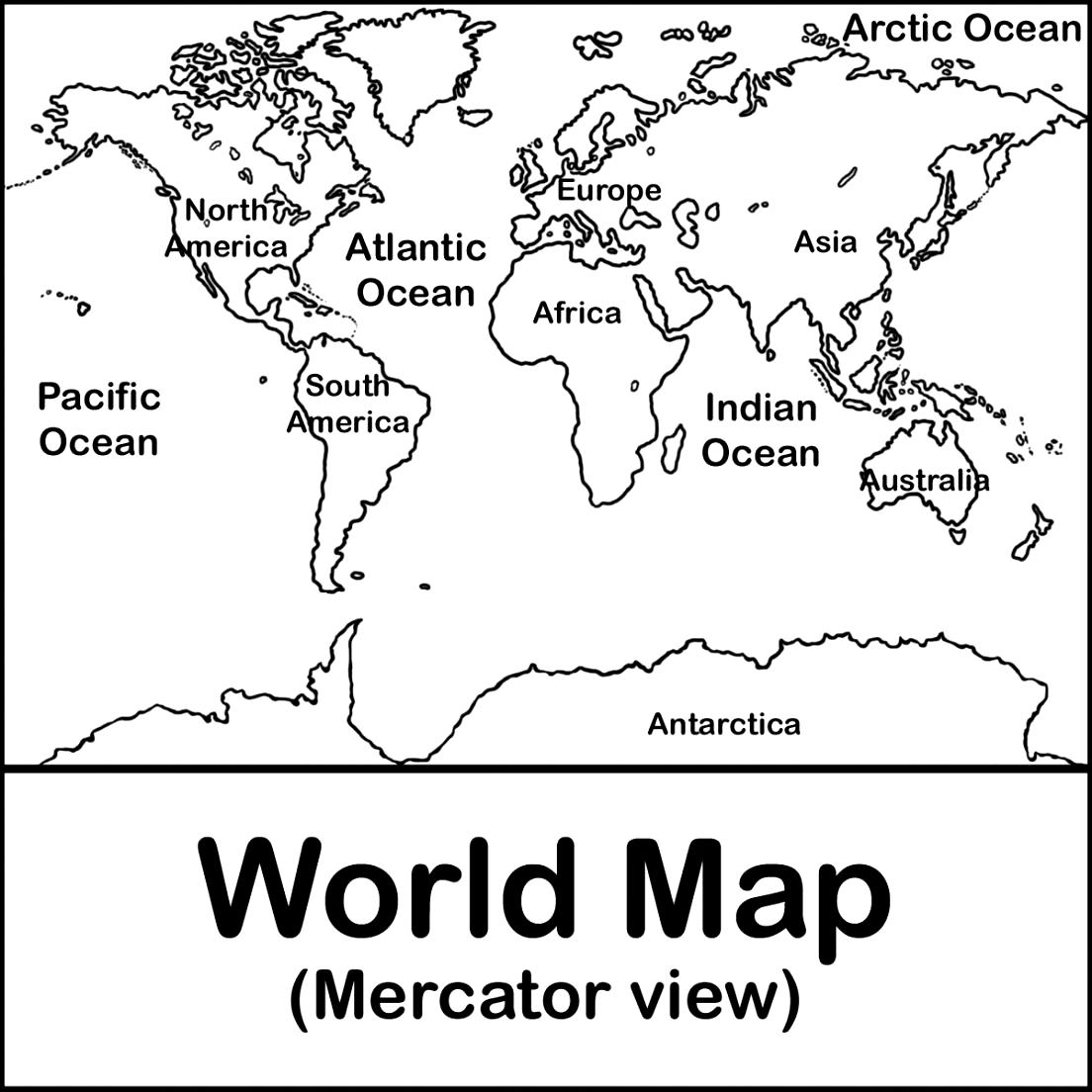 Continent clipart world political East  Free World Detailed